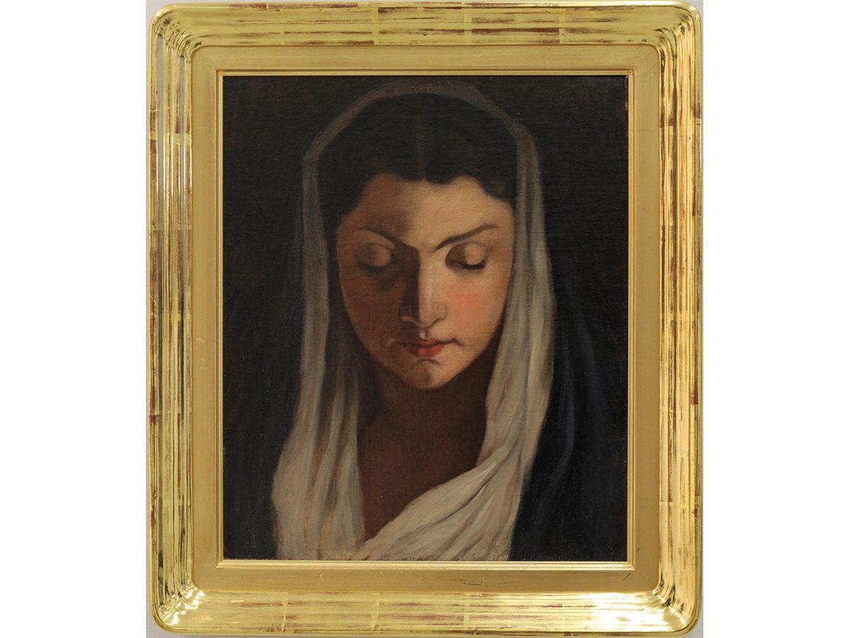 Maria Wiik (1853–1928): Madonna, 1800-luku, öljy kankaalle.